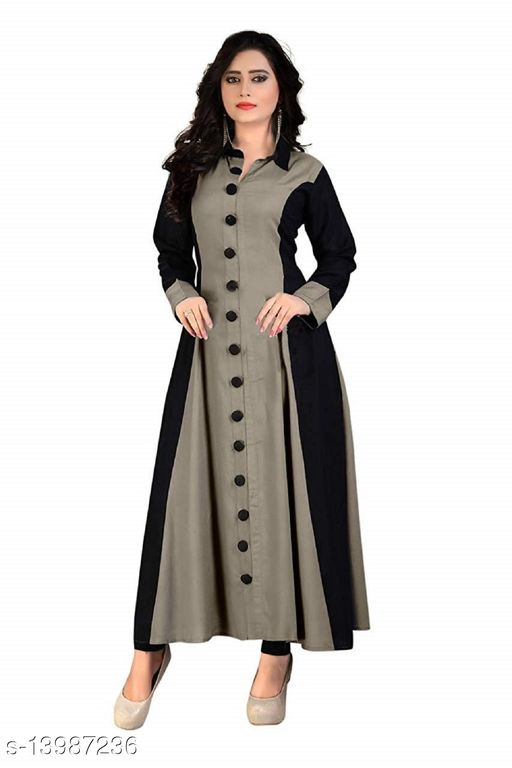 Women's Rayon Slub Designer Attrctive Stylist Pattern Fancy Daily And Party Wear Kurti