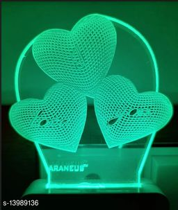 3D STYLISH Night Lamp with 7 Color Changing Light for Gift,for Bedroom,livingroom