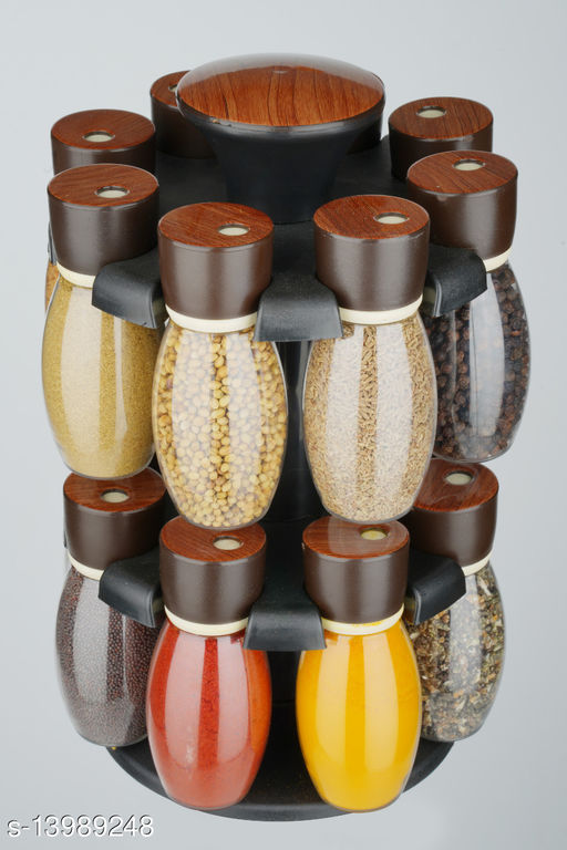 Revolving 16 Jar Spice Rack / Masala Rack / Spice Container / Masala Container / Condiment Set of 150 ML a