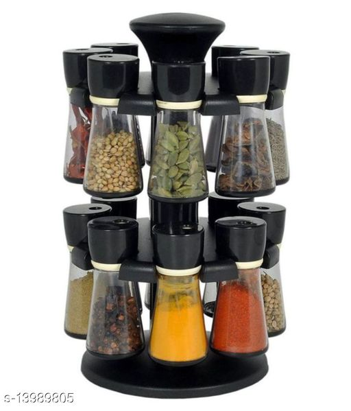 Revolving 16 Jar  Spice Rack , Masala Rack , Spice Container , Masala Container , Condiment Set - 200 ML