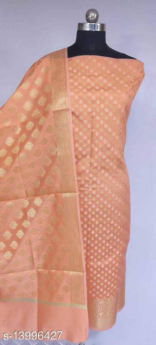 Banarsi Silk Suit (11Light Peach)