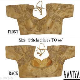 Women's Phantom Silk Chiku Embroidered Stitch Blouse