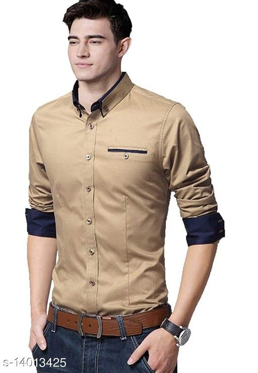 Classy Solid Cotton Men's Casual Shirt