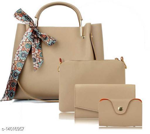Unique Women's Multipack Cream Handbag
