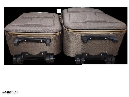 Trendy Men's Brown Synthetic Trolley Bags