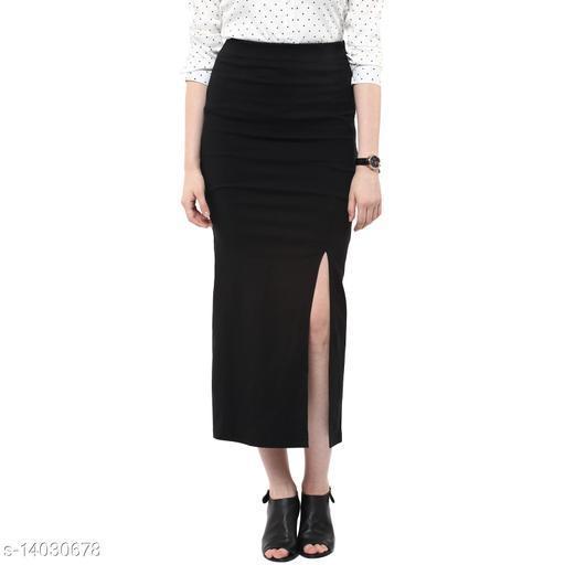 Long Skirt in Black  Color made of polyster Lycra