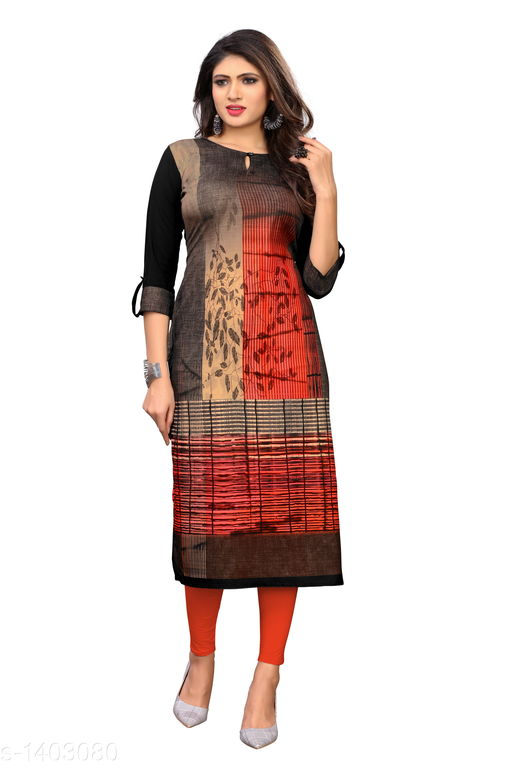 Kurtis & Kurtas Marine Style American Crepe Kurti  *Fabric* American Crepe  *Sleeves* 3/4 Sleeves Are Included  *Size* M - 38 in, - 40 in, X- 42 in, XXL - 44 in, XXXL - 46 in  *Length* Up To 48 in  *Type* Stitched  *Description* It Has 1 Piece Of Women's Kurti  *Work * Printed  *Sizes Available* M, L, XL, XXL, XXXL   Catalog Rating: ★3.6 (29) Supplier Rating: ★4 (2846) SKU: CREAP 402 Shipping charges: Rs1 (Non-refundable) Pkt. Weight Range: 300  Catalog Name: Jignya Marine Style American Crepe Kurtis Vol 1 - SANDEEP ETHNIC CENTER Code: 363-1403080--854
