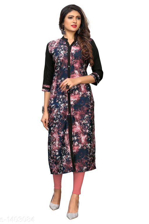 Kurtis & Kurtas Marine Style American Crepe Kurti  *Fabric* American Crepe  *Sleeves* 3/4 Sleeves Are Included  *Size* M - 38 in, - 40 in, X- 42 in, XXL - 44 in, XXXL - 46 in  *Length* Up To 48 in  *Type* Stitched  *Description* It Has 1 Piece Of Women's Kurti  *Work * Printed  *Sizes Available* M, L, XL, XXL, XXXL   Catalog Rating: ★3.6 (29) Supplier Rating: ★4 (2846) SKU: CREAP 403 Shipping charges: Rs1 (Non-refundable) Pkt. Weight Range: 300  Catalog Name: Jignya Marine Style American Crepe Kurtis Vol 1 - SANDEEP ETHNIC CENTER Code: 363-1403084--854