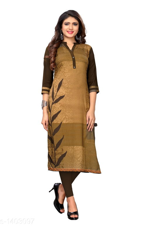Kurtis & Kurtas Marine Style American Crepe Kurti  *Fabric* American Crepe  *Sleeves* 3/4 Sleeves Are Included  *Size* M - 38 in, - 40 in, X- 42 in, XXL - 44 in, XXXL - 46 in  *Length* Up To 48 in  *Type* Stitched  *Description* It Has 1 Piece Of Women's Kurti  *Work * Printed  *Sizes Available* M, L, XL, XXL, XXXL   Catalog Rating: ★3.6 (29) Supplier Rating: ★4 (2846) SKU: CREAP 407 Shipping charges: Rs1 (Non-refundable) Pkt. Weight Range: 300  Catalog Name: Jignya Marine Style American Crepe Kurtis Vol 1 - SANDEEP ETHNIC CENTER Code: 363-1403097--854