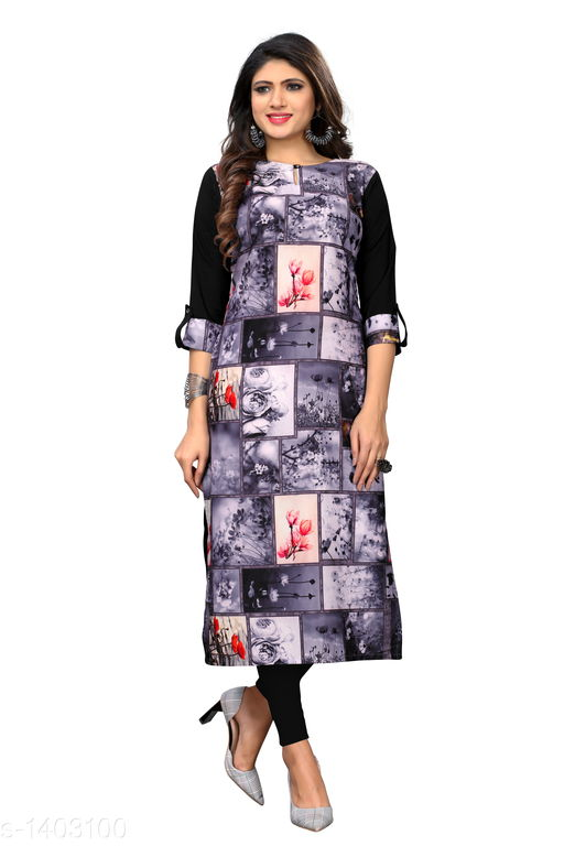 Kurtis & Kurtas Marine Style American Crepe Kurti  *Fabric* American Crepe  *Sleeves* 3/4 Sleeves Are Included  *Size* M - 38 in, - 40 in, X- 42 in, XXL - 44 in, XXXL - 46 in  *Length* Up To 48 in  *Type* Stitched  *Description* It Has 1 Piece Of Women's Kurti  *Work * Printed  *Sizes Available* M, L, XL, XXL, XXXL   Catalog Rating: ★3.6 (29) Supplier Rating: ★4 (2846) SKU: CREAP 410 Shipping charges: Rs1 (Non-refundable) Pkt. Weight Range: 300  Catalog Name: Jignya Marine Style American Crepe Kurtis Vol 1 - SANDEEP ETHNIC CENTER Code: 363-1403100--854