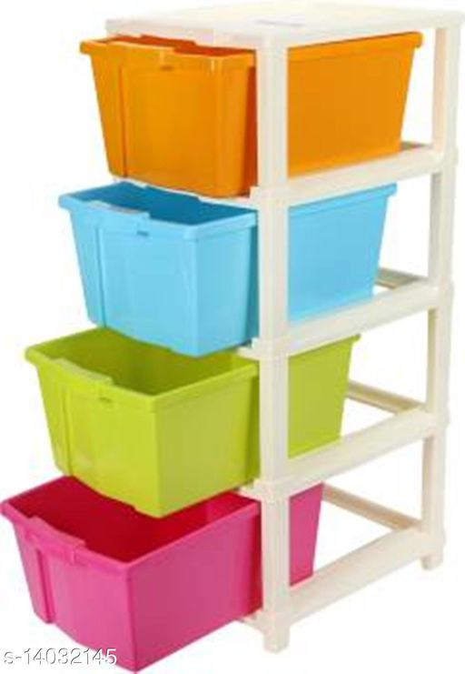 4xl Multi-Color Plastic Modular Multi-Purpose Drawer Storage System for Home and Office