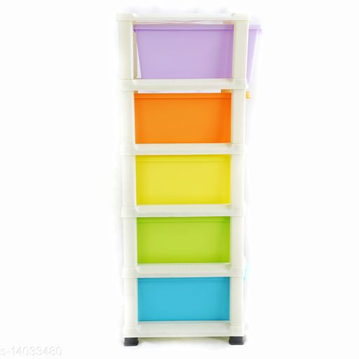 5xl Multi color ( Grey) Plastic Modular  Drawer Storage System for Home and Office