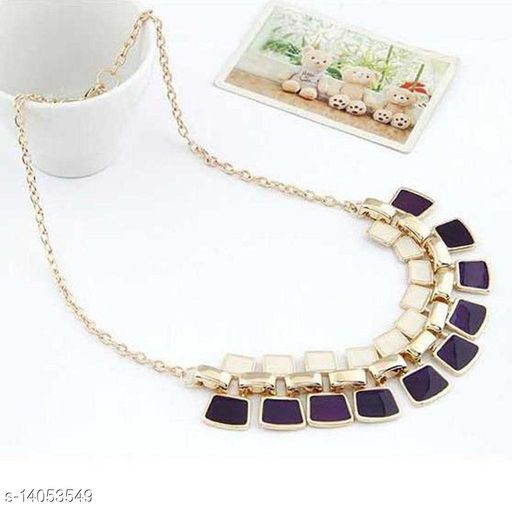 Arzonai Europe and the United States big necklace wholesale exaggerated square ornaments