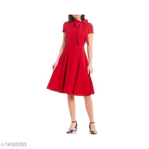 Fine American crepe party wear dress