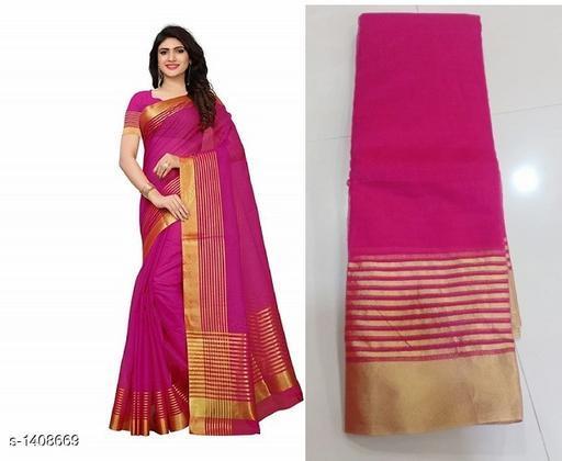 Stylish Cotton Silk Printed Women's Saree