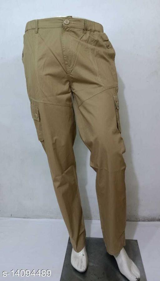 Sapper Khaki Cotton Solid Cargo Pants