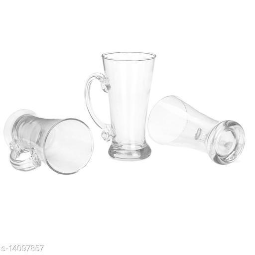 Afast New Pilsner Glass Beer Mug With Handle Set Of 3