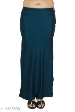 Carrel Women Lycra Fabric Long Length Plain Shiney Petticoat Slim Fit Shapewear(Midnightblue)