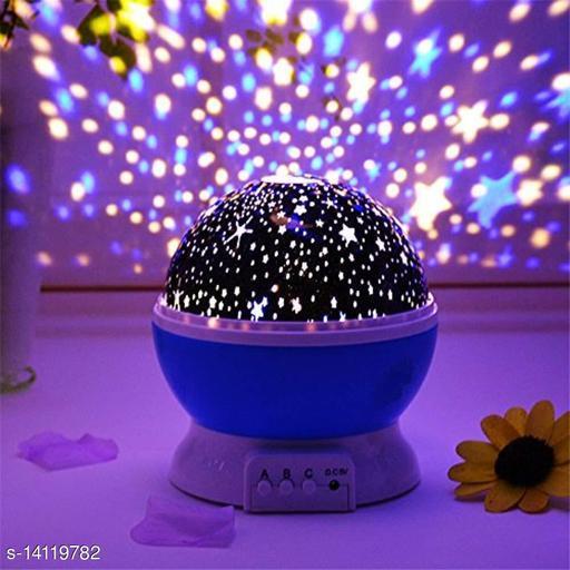 Star Master Projector LED Moon Romantic Sky Night Lamp for Kid's Room Decor (Multicolours)