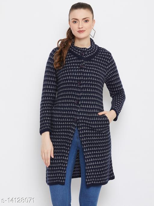 Zigo Navy Longline Cardigan Sweater