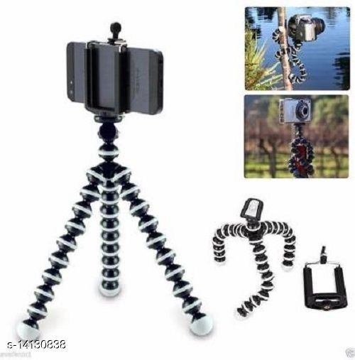 MobFest® 10 Inch Gorilla Tripod with Mobile Holder for Mobiles DSLR & Action Cameras (Supports upto 1.5 KG)