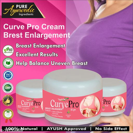 Breast Creams Curve Pro Herbal Cream For Breast Enlargement 100% Ayurvedic  Product Name: Curve Pro Herbal Cream For Breast Enlargement 100% Ayurvedic  Type: Cream Multipack: 3 Capacity;150gm Country of Origin: India Sizes Available: Free Size    Catalog Name:  Proffesional Moisturizing BB & CC Cream CatalogID_2803420 C164-SC2012 Code: 329-14155969-