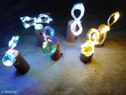 Brand World Combo of 20 LED Bottle Cork Lights Copper Wire String Lights for Christmas, New Year, Valentine's Day, Birthday Party (Size-2 Meter/Pack of 6/Colour-Warm White, Multicolour and Pure White)