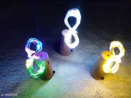 Brand World Combo of 20 LED Bottle Cork Lights Copper Wire String Lights for Christmas, New Year, Valentine's Day, Birthday Party (Size-2 Meter/Pack of 3/Colour-Warm White, Multicolour and Pure White)