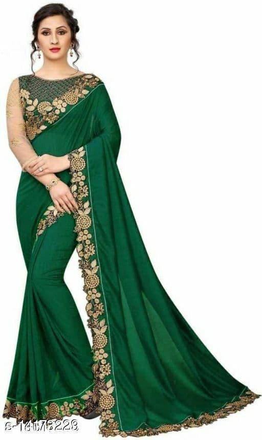 Vichitra silk Trendy Gracefil sarees