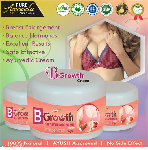 Breast Creams B Growth Herbal Cream For Helps To Enlarge Your Breast 100% Ayurvedic Product Name: B Growth Herbal Cream For Helps To Enlarge Your Breast 100% Ayurvedic Multipack: 1 Country of Origin: India Sizes Available: Free Size    Catalog Name:  Superior Perfect Radiance Lotion & Creams CatalogID_2808526 C164-SC2012 Code: 339-14178801-