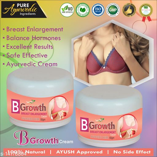 Breast Creams B Growth Herbal Cream For Helps To Enlarge Your Breast 100% Ayurvedic Product Name: B Growth Herbal Cream For Helps To Enlarge Your Breast 100% Ayurvedic Multipack: 1 Country of Origin: India Sizes Available: Free Size    Catalog Name:  Superior Perfect Radiance Lotion & Creams CatalogID_2808526 C164-SC2012 Code: 647-14178804-