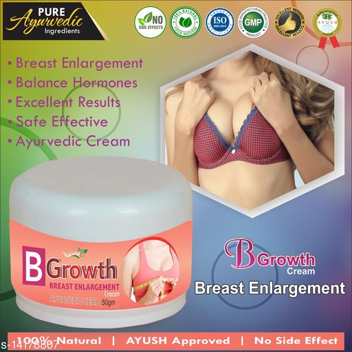 Breast Creams B Growth Herbal Cream For Helps To Enlarge Your Breast 100% Ayurvedic Product Name: B Growth Herbal Cream For Helps To Enlarge Your Breast 100% Ayurvedic Multipack: 1 Country of Origin: India Sizes Available: Free Size    Catalog Name:  Superior Perfect Radiance Lotion & Creams CatalogID_2808526 C164-SC2012 Code: 664-14178807-