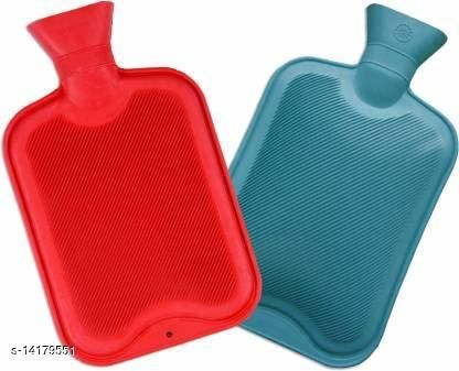 Brand World Presents Rubber Hot Water Heating Pad Bag for Pain Relief- Pack of 2 (Size -Large and Colour- Random Colour)