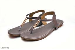 Attractive Women's Synthetic Grey Sandals