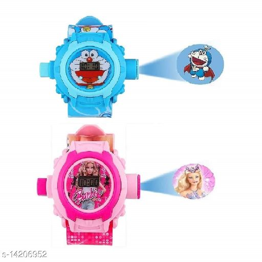 Buy Doremon Kids Watch Get Barbie Watch Free Kids Watch