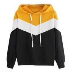 Mustard Zig Zag Strip SweatShirt For Womens