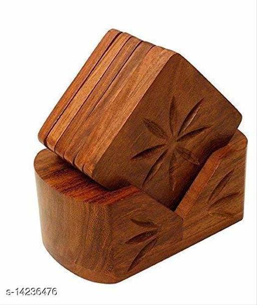 Handmade Wooden Tea Coaster Set for Kitchen/Dining, Kite Shape