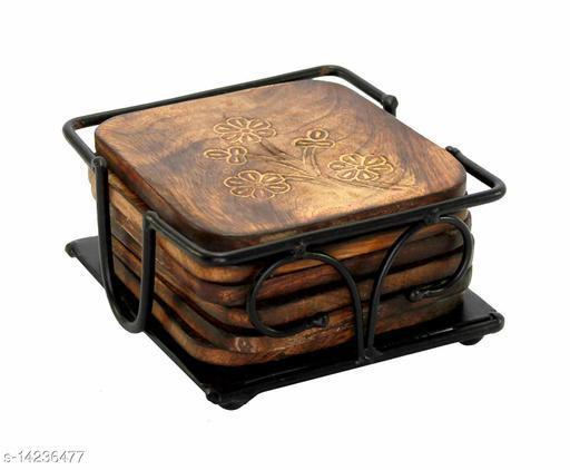 Wooden and Iron Tea Coaster