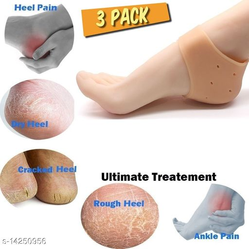 3 Pair Silicone Heel Socks For Pedicure Against Cracking Chap Pain Protector Moisturizing Breathable Anti Crack Socks