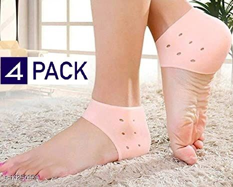 4 Pair Silicone Heel Socks For Pedicure Against Cracking Chap Pain Protector Moisturizing Breathable Anti Crack Socks