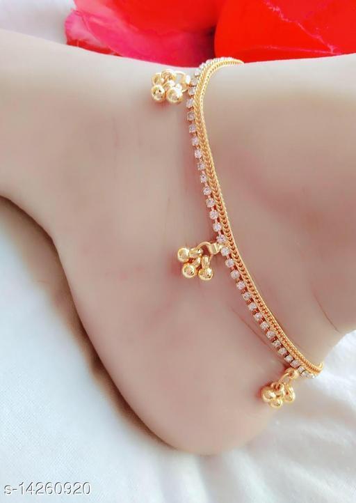 Brass Designer Gold Plated Anklets