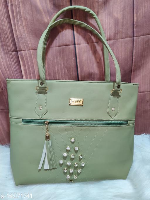 Attractive Women's Green PU Handbag