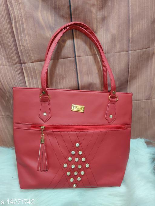 Unique Women's Maroon Handbag