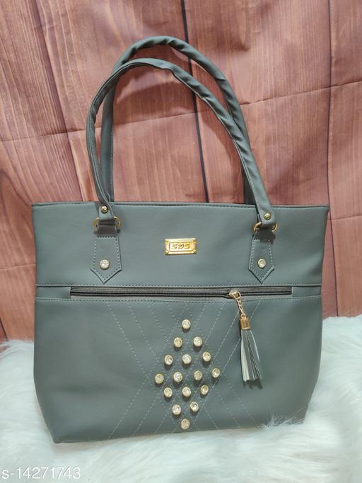 Beautiful Women's Grey PU Handbag