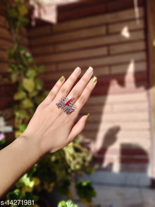 Premium Brass Oxidised  Finger Ring- Mahakaal