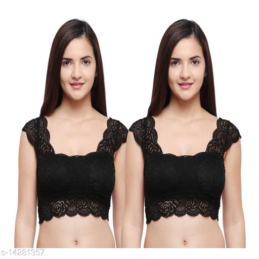 Snappy Dresser's Net Removable Padded Pink Bra Cum Blouse pack of 2