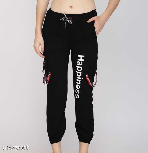 INSPIRE THE NEXT HAPPINESS BLACK JOGGER