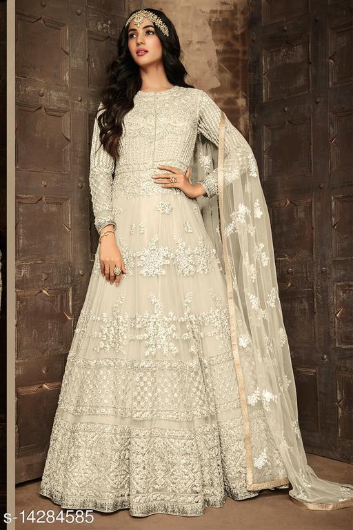 New Designer Wedding Anarkali Semi Stitched Gown & Salwar Suit