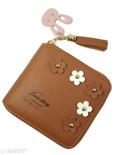 Attractive Women's Brown Leather Wallet