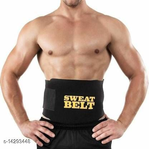 Shopeleven Hot Shapers Sweat Waist Trimmer Fat Burner Belly Tummy Yoga Wrap Black Exercise Body Slimming Belt